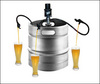 A full beer keg
