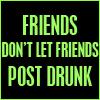 Drunk posting ...