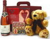 Champagne,chocs+ teddy gift set