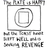 Unhappy toast