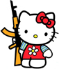 a Hardcore Hello Kitty