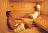 Some alone time in the sauna!
